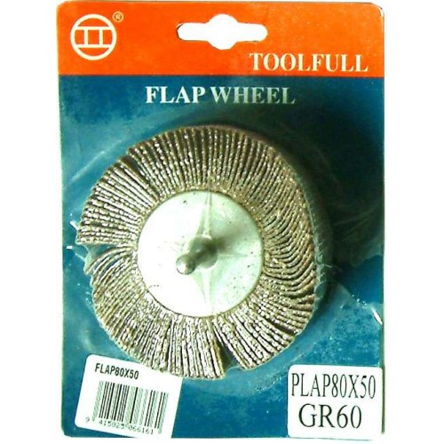SANDING FLAP WHEEL WITH shank 80x50mm for Drills