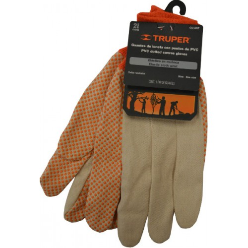 Garden Gloves Cotton With Pvc Dots Large