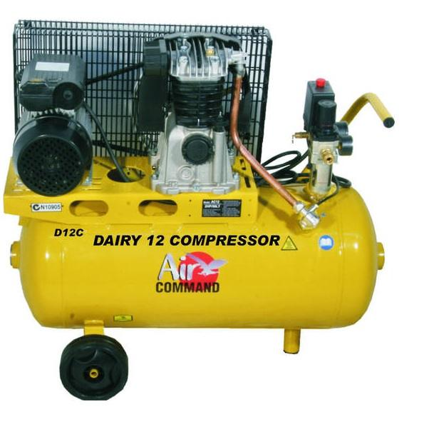 Air Command DAIRY 12, 12CFM, 2HP Compressor-50L Tank (w/filtration)