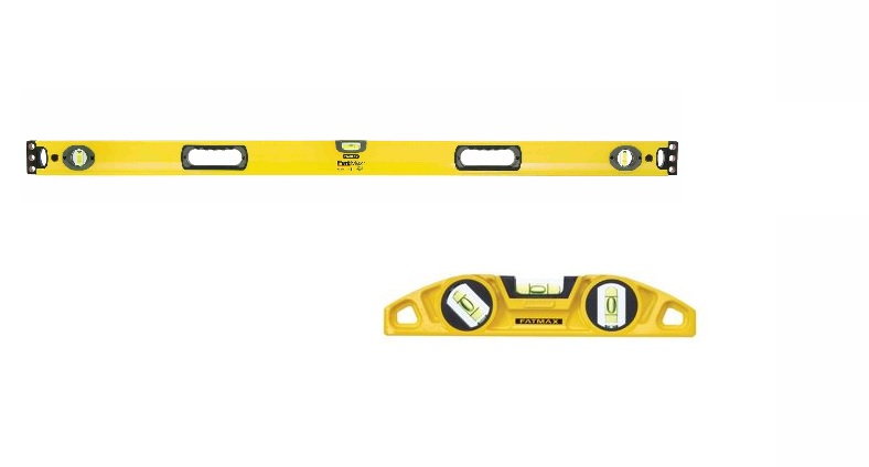 Stanley Fat Max Box Beam Level 1200mm and magnetic torpedo level