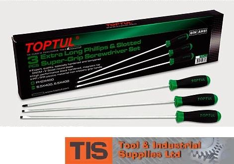 SCREWDRIVERS - TOPTUL EXTRA LONG SCREWDRIVER SET