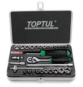 "SOCKET SET - 29pc TopTul 1/4"" drive Socket set"