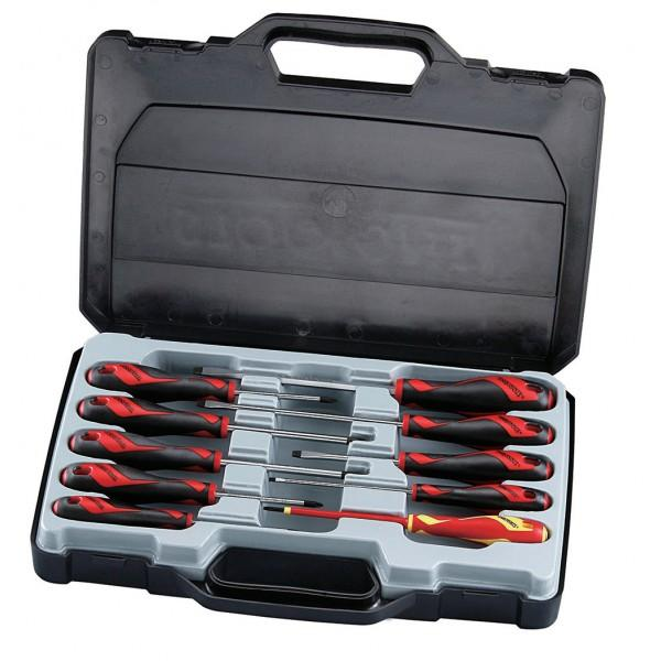 teng tools 10pc screwdriver set in case. Black Bedroom Furniture Sets. Home Design Ideas