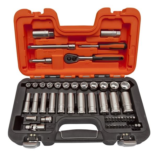 "Bahco SOCKET SET 1/4 & 3/8"" Socket Set, 54PC"