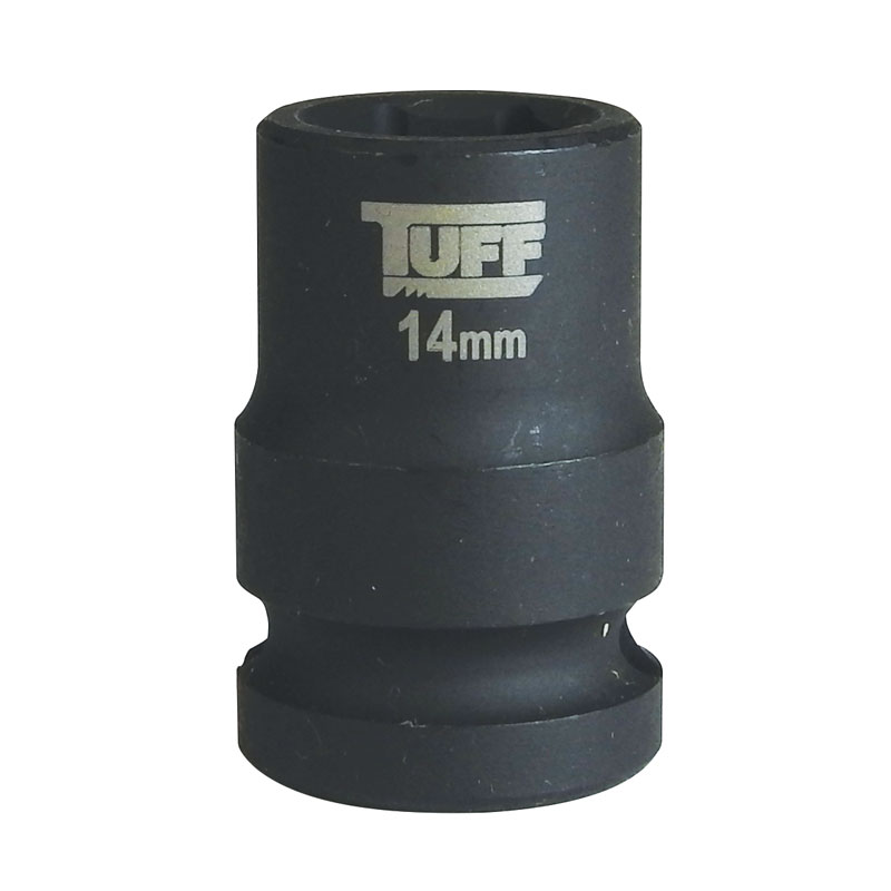 "TUFF Impact Socket 14mm x 1/2"" Short - 6 Points"