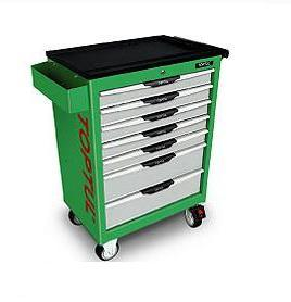 Superior Quality TopTul 7 draw roll cab green/grey