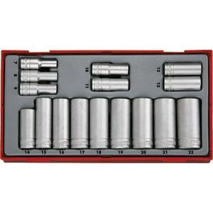 "16 Piece Deep 6 Point Metric Sockets 3/8"" Drive"