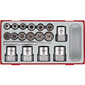 3 8 and 1 2in STUD EXTRACTOR SOCKET SET   TENG TOOL