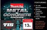 Makita Metal & Concrete Roadshow Sale